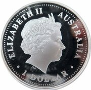 1 Dollar - Elizabeth II (4th Portrait - Australian Open Tennis - Silver Proof) -  obverse