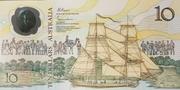 10 Dollars (Bicentenary of European Settlement) – obverse