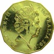 50 Cents - Elizabeth II (5th Portrait - Gottwald Proof Gold) -  obverse