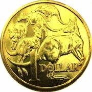 1 Dollar - Elizabeth II (5th Portrait - Gottwald Proof Gold) -  reverse