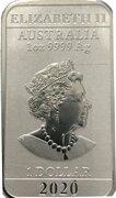1 Dollar - Elizabeth II (6th Portrait - Chinese Dragon Bullion Bar) -  obverse