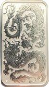 1 Dollar - Elizabeth II (6th Portrait - Chinese Dragon Bullion Bar) -  reverse