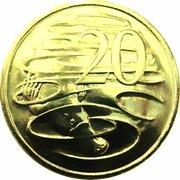 20 Cents - Elizabeth II (5th Portrait - Gottwald Proof Gold) -  reverse