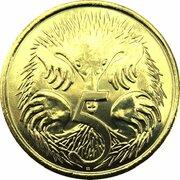 5 Cents - Elizabeth II (5th Portrait - Gottwald Proof Gold) -  reverse