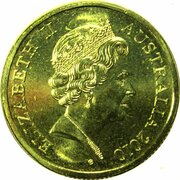 10 Cents - Elizabeth II (5th Portrait - Gottwald Proof Gold) -  obverse