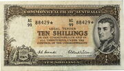 10 Shillings (Commonwealth Bank) – obverse