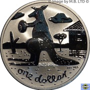 1 Dollar - Elizabeth II (4th Portrait - Mombassa Kangaroo) -  reverse