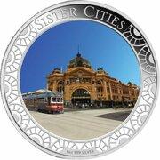 1 Dollar - Elizabeth II (4th Portrait - Sister Cities - Silver Proof) -  reverse