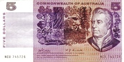 5 Dollars (Commonwealth of Australia) – obverse