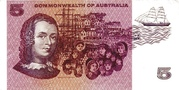 5 Dollars (Commonwealth of Australia) – reverse