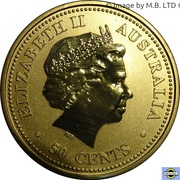 50 Cents - Elizabeth II (4th Portrait - The Queen's 80th Birthday) -  obverse