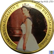 50 Cents - Elizabeth II (4th Portrait - The Queen's 80th Birthday) -  reverse