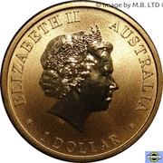 1 Dollar - Elizabeth II (4th Portrait - World Youth Day) -  obverse