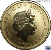 1 Dollar - Elizabeth II (4th Portrait - 2012 Australian Olympic Team - Olympic Spirit) -  obverse