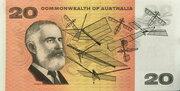20 Dollars (Commonwealth of Australia) – reverse