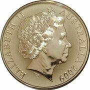 1 Dollar - Elizabeth II (4th Portrait - Ken Done Kangaroo - Silver) -  obverse