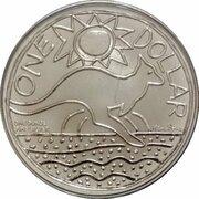 1 Dollar - Elizabeth II (4th Portrait - Ken Done Kangaroo - Silver) -  reverse