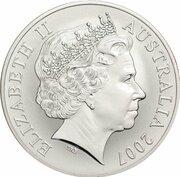 1 Dollar - Elizabeth II (4th Portrait - Rolf Harris Kangaroo - Silver Gilded Proof) -  obverse