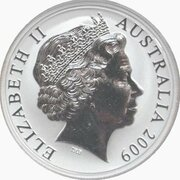 1 Dollar - Elizabeth II (4th Portrait - Ken Done Kangaroo -Silver Gilded Proof) -  obverse
