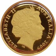 10 Dollars - Elizabeth II (4th Portrait - Ken Done Kangaroo - Gold Proof) -  obverse