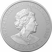 1 Dollar - Elizabeth II (6th Portrait - Sumatran Tiger Silver Bullion Coin) -  obverse