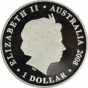 1 Dollar - Elizabeth II (4th Portrait - Australian Olympic Team - Silver Proof) -  obverse