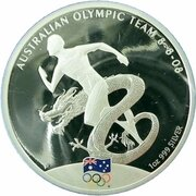 1 Dollar - Elizabeth II (4th Portrait - Australian Olympic Team - Silver Proof) -  reverse