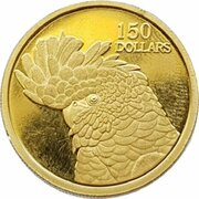 150 Dollars - Elizabeth II (4th Portrait - Red Tailed Cockatoo - Gold Bullion Coin) -  reverse