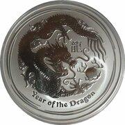 10 Dollars - Elizabeth II (4th Portrait - Year of the Dragon - Silver Bullion Coin) -  reverse