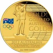 200 Dollars - Elizabeth II (4th Portrait - Australian Olympic Team - Gold Proof) -  reverse
