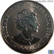 1 Dollar - Elizabeth II (6th Portrait - 2020 Australian Paralympic Team) – obverse