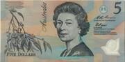 5 Dollars (pale) -  obverse