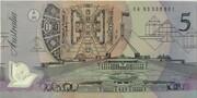5 Dollars (pale) -  reverse