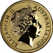 1 Dollar - Elizabeth II (4th Portrait - AFL Custodians Of The Game - Gold Plated Silver Proof) -  obverse
