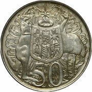 50 Cents - Elizabeth II (2nd Portrait - Pattern) -  reverse