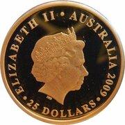 25 Dollars - Elizabeth II (4th Portrait - 2010 FIFA World Cup - Gold Proof) -  obverse