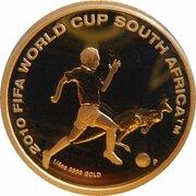 25 Dollars - Elizabeth II (4th Portrait - 2010 FIFA World Cup - Gold Proof) -  reverse