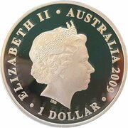 1 Dollar - Elizabeth II (4th Portrait - 100 Yrs Swimming Excellence - Silver Proof) -  obverse