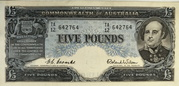 5 Pounds (Commonwealth Bank) – obverse