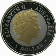 1 Dollar - Elizabeth II (4th Portrait - 50th Anniversary of Royal Visit) -  obverse