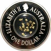 1 Dollar - Elizabeth II (4th Portrait - 150th Anniversary Eureka Stockade - Silver Proof) -  obverse
