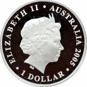 1 Dollar - Elizabeth II (4th Portrait - Rotary Centenary) -  obverse