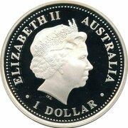 1 Dollar - Elizabeth II (4th Portrait - PGA Championship Centenary - Silver Proof) -  obverse