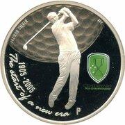 1 Dollar - Elizabeth II (4th Portrait - PGA Championship Centenary - Silver Proof) -  reverse