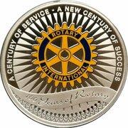 1 Dollar - Elizabeth II (4th Portrait - Rotary Centenary) -  reverse