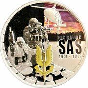 1 Dollar - Elizabeth II (4th Portrait - SAS 50th Anniversary - Silver Proof) -  reverse