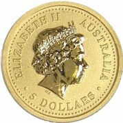 5 Dollars - Elizabeth II (4th Portrait - Year of the Horse - Gold Bullion Coinage) -  obverse