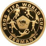 25 Dollars - Elizabeth II (4th Portrait - 2006 FIFA World Cup Germany - Gold Proof) -  reverse