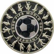 1.25 Dollars - Elizabeth II (4th Portrait - FIFA World Cup 2006 - Silver Proof) -  reverse