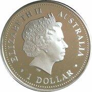 1 Dollar - Elizabeth II (4th Portrait - Sydney Harbour Bridge - Silver Proof) -  obverse